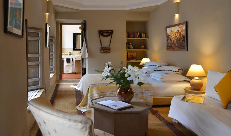 Mogador suite riad Dar Housnia in Marrakech