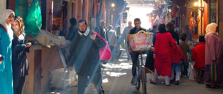 accès Dar Housnia plan à Marrakech
