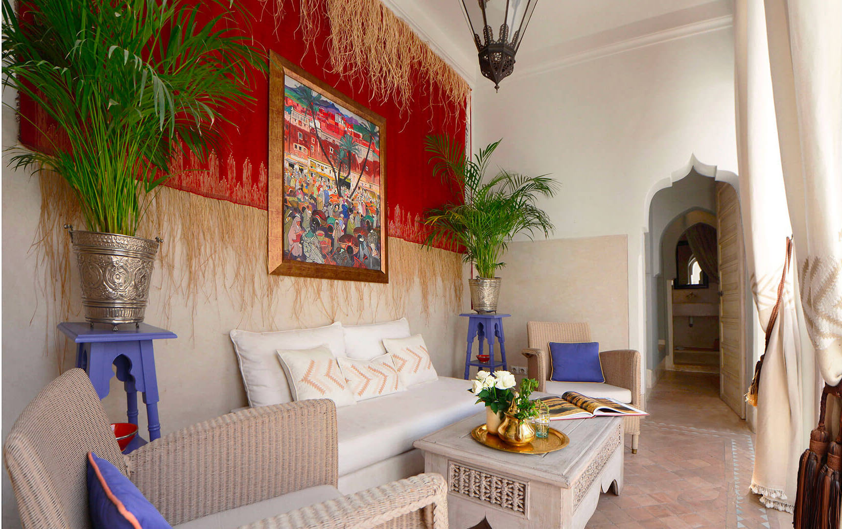 patio riad Dar Housnia à Marrakech