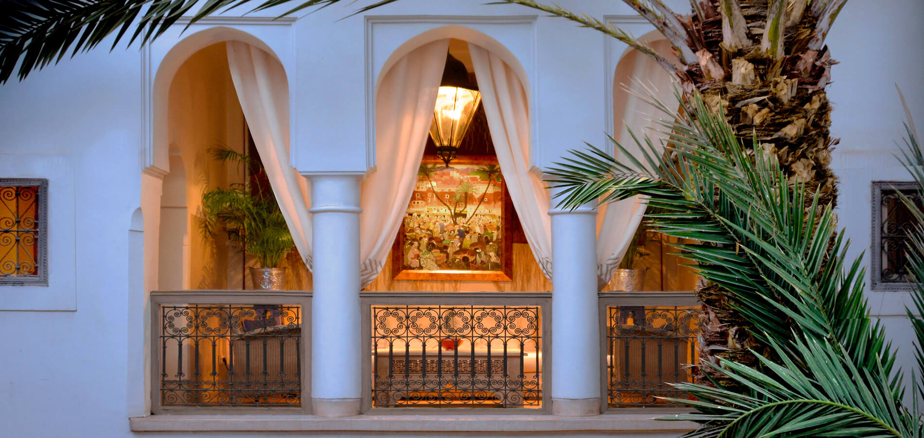 patio riad Dar Housnia in Marrakech