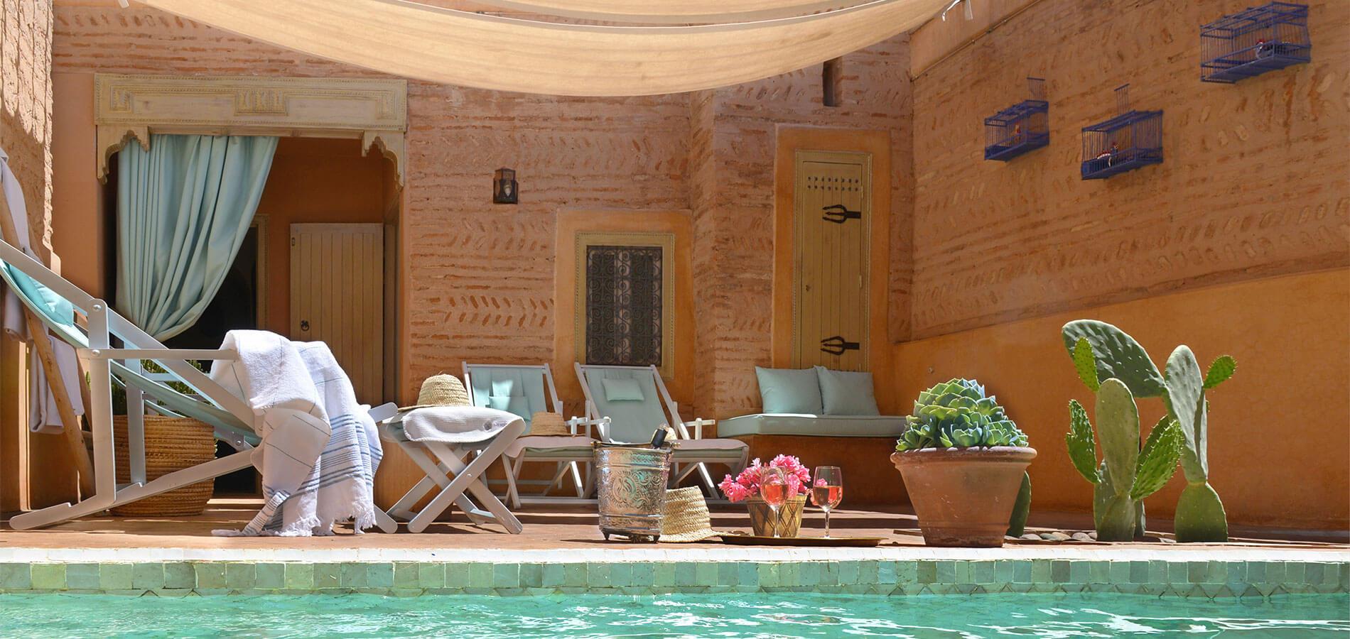 piscine riad Dar Housnia à Marrakech