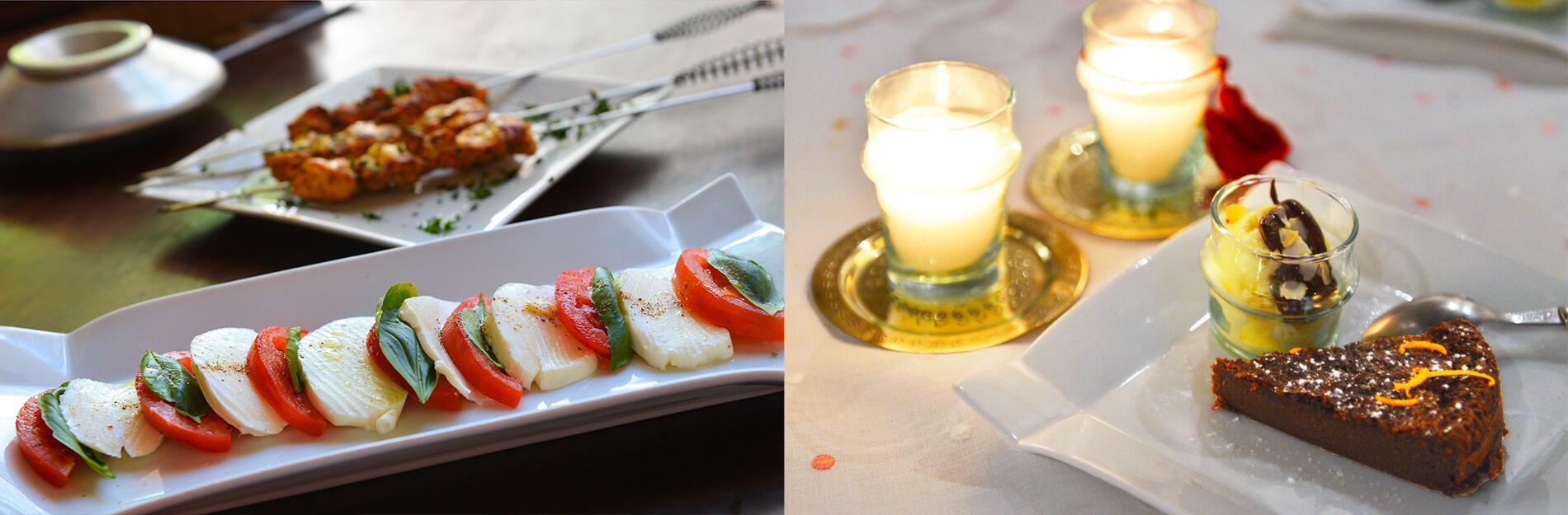 table d'hôtes cuisine riad Dar Housnia à Marrakech